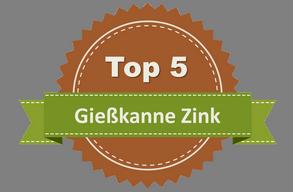 Buri Zink-Gie/ßkanne 5L mit Henkel Blumenkanne Wasserkanne Garten Dekokanne Blechkanne
